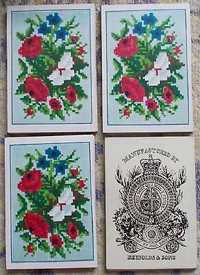 """Antique Playing Cards  """" REYNOLDS & SONS """"   Bezique  deck   c.1860s    32/32"""