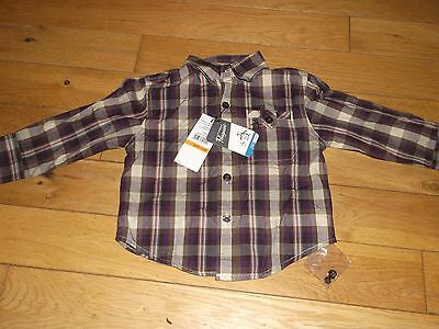 Penguin Baby Boy  Long Sleeved Shirt Age 12 Months Deep Purple Bnwt
