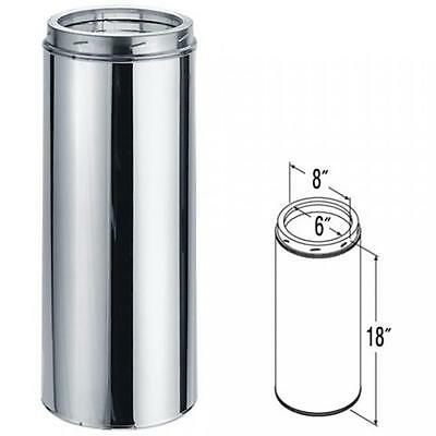 9404 6'' x 18'' DuraTech Stainless Steel Chimney Pipe