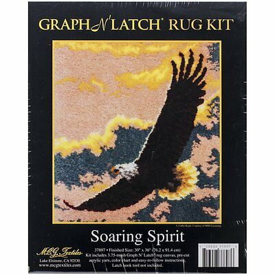 "Soaring Spirit Latch Hook Rug Making Kit 30x36"" MCG Textiles No Tool Included"