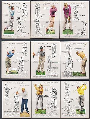 CIGARETTE CARDS Players 1939 Golf