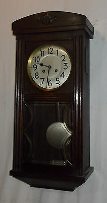 QUALITY Junghans A21 Pendulum WALL Clock With CHIME In OAK Case VINTAGE
