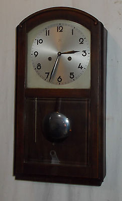 Shaped ARCH Top HAC W77 Pendulum WALL Clock With CHIME In OAK Case VINTAGE