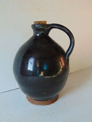Antique Early OVOID REDWARE JUG Crock Americana Early Stoneware