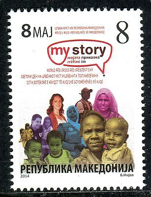 MACEDONIA(221) - Red Cross - Red Crescent Day - MNH Set - 2014