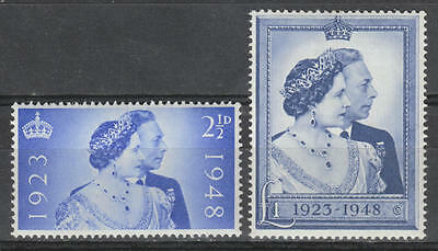 Great Britain: 1948 - King George Vi - Silver Wedding Set - Sg 493/494 - Mnh **