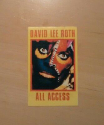 David Lee Roth Tour Backstage Pass Unlaminated Card