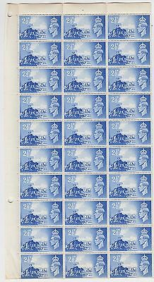 GB Channel Islands Liberation 1948 2.5d Part Sheet With Catalogued Varieties