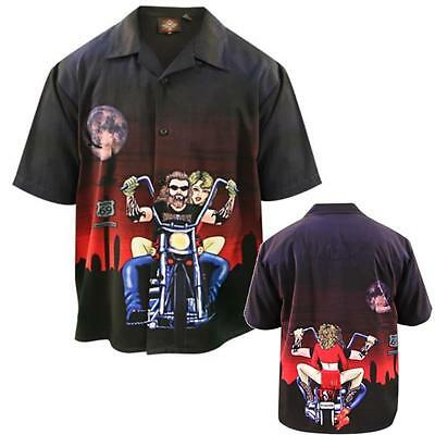 NEW Dragonfly Roadhouse Night Biker And Bitch Short Sleeve Shirt 5X 5XL 5XLarge