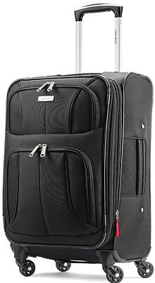 "Samsonite Luggage Aspire XLite 20"" Spinner Expandable Carry On Suitcase - Black"