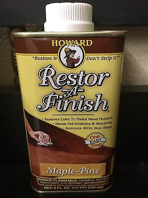 NEW HOWARD RESTOR-A-FINISH Maple Pine Wood Furniture Restorer 8 oz