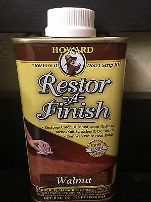 NEW HOWARD RESTOR-A-FINISH Walnut Wood Furniture Restorer 8 oz