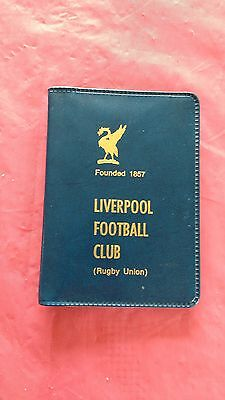 Liverpool 1975-76 Rugby Members Ticket and Fixture Card