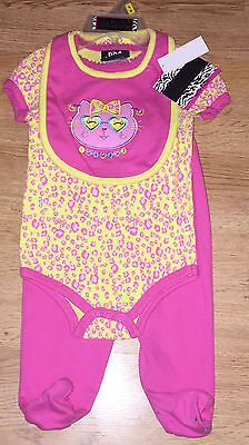 DDG Darlings Baby Girl's Kitty 3 Piece Outfit Size 3-6 Months NWT