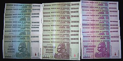 30 Zimbabwe banknotes-10 x 50,200,500 million dollars paper money currency