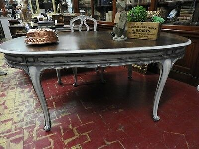 Wonderful Ancient Table French Lacquered Extendible With Level In Nut