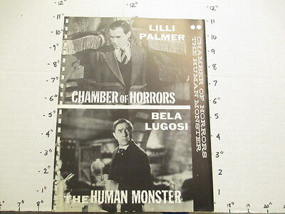 TV show movie photo 1950s HUMAN MONSTER Bela Lugosi Chamber of Horrors L Palmer