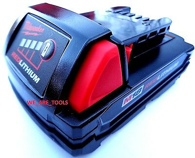 New GENUINE 18V Milwaukee 48-11-1815 Compact Battery M18 18 Volt XC Red Lithium