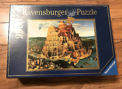 Ravensburger Rare 1996 Tower Of Babel 9000 Pc Puzzle New In Box Unopened Germany