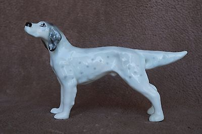 VTG Bone China ENGLISH SETTER Hunting Dog Blue Belton