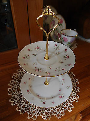2 Tier Cake  Biscuit Plate Stand high tea Duchess Marie