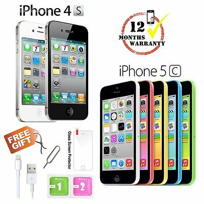 Apple iPhone 4s 5c 8GB 16GB 32GB Factory Unlocked Sim Free Mobile Smartphone US