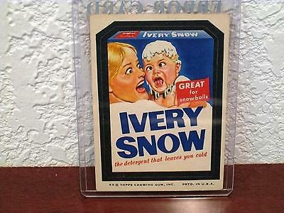 Vintage Wacky Packages Ivery Snow Marilyn Chambers Sticker Card Tan Back