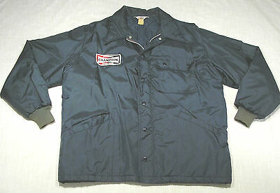 Vintage CHAMPION Spark Plug Racing Shop Jacket (60s/70s) QUILTED LINING! XL