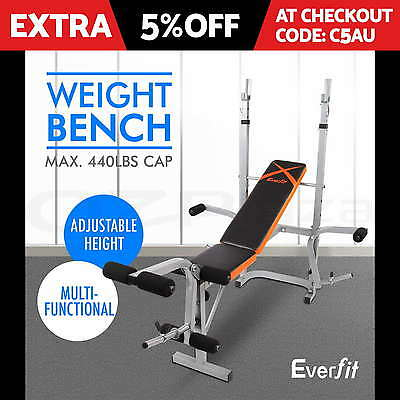 Fitness Multi-station Home Gym Weight Bench Curl Press Incline AB Exercise