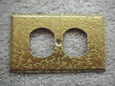 Vintage Retro Gold Tone Outlet Cover - Hand Forged Look - Vg