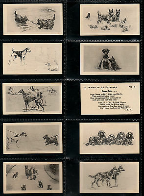 """B.A.T 1926 INTRIGUING SCARCER ( DOGS ) FULL 26 CARD SET """" ETCHINGS - Of Dogs """""""