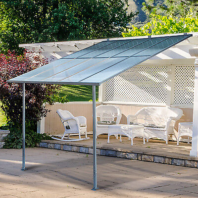 Aluminum Frame 10' x 10' Wall Mounted Canopy House Awning Home Cover Dining Bar