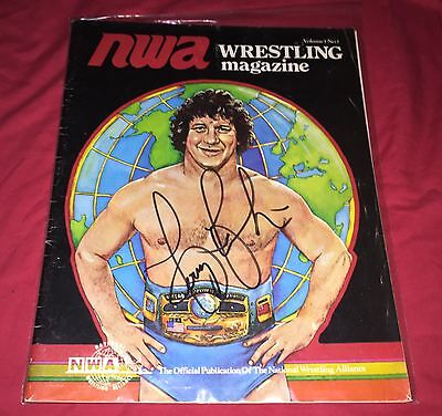 Terry Funk,Autographed,NWA,Wrestling Magazine,1st Issue,Rare,MACW,WCW,WWE,Japan