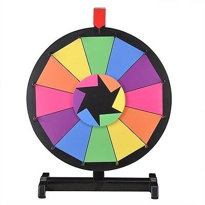 "WinSpin™ 15"" Tabletop Color Prize Wheel of Fortune 12 Slot Spin Game Tradeshow"