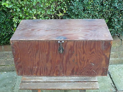 Vintage Wooden Tool Storage Cabinet Chest Table Industrial Box Shabby Chic