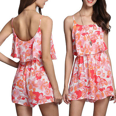 New Ladies Women Clubwear Halter Playsuit Bodycon Party Jumpsuit Romper Trousers