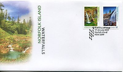 2017 Norfolk Island Waterfalls (Gummed Stamps) FDC - Norfolk Island PMK