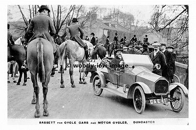 pt8506 - Hunting , Car advert Bassetts of Doncaster , Yorkshire - photograph 6x4