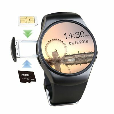 Waterproof KW18 Bluetooth Smart Watch Phone Mate SIM Heart Rate For Android HTC