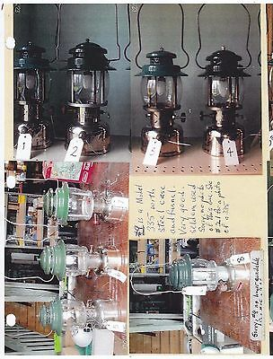 EA001 Antique Canadian Coleman Collection Lanterns Irons Stoves Heater Etc. Lot