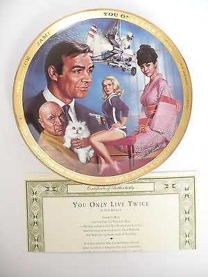 Franklin Mint James Bond You Only Live Twice Plate With Certificate & Box