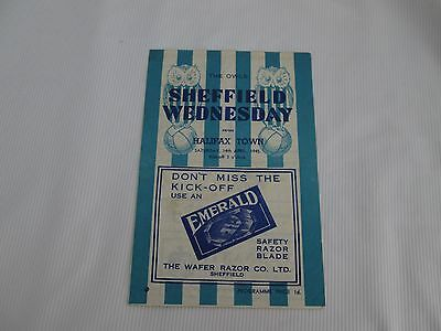 1944-45  LEAGUE NORTH SHEFFIELD WEDNESDAY v HALIFAX TOWN
