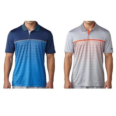 Adidas Golf 2017 Climacool Gradient Tri-Geo Print Men's Polo Shirt WAS £34.99