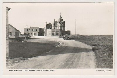 Caithness postcard - The End of the Road, John O'Groats - RP
