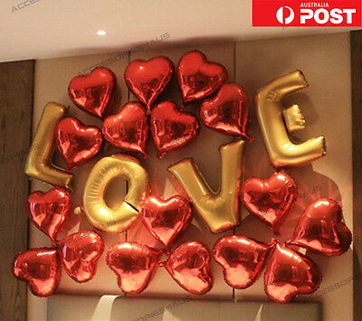 Foil Balloon Love Heart Wedding Engagement Party Anniversary Home Decoration