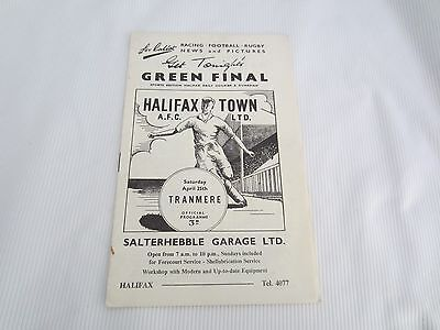 1958-59 DIV 3 HALIFAX TOWN  v TRANMERE ROVERS