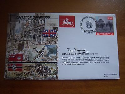 Js/50/44/6 Brigadier Tony Heywood Signed Operation Goodwood Cover