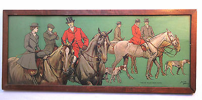 Chromolithographie Dorothy HARDY: Fox Hunting, Riders, Horses, Dogs