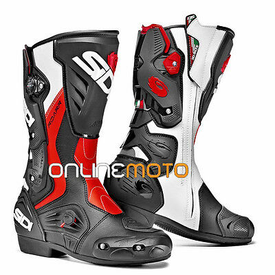 Sidi Roarr Black/Red Flo Motorcycle Boot