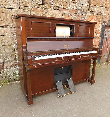 Antique STECK Pianola PIANO The AEOLIAN Co OVERSTRUNG 85 Key PEDAL Vintage